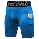 povoljno LED žarulje s nitima-YUERLIAN Muškarci Hlače za jogu Color block Trčanje Fitness Trening u teretani Kratke hlače Odjeća za rekreaciju Mala težina Prozračnost Quick dry Izzadás-elvezető Visoka elastičnost Slim