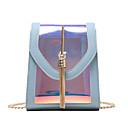 ราคาถูก กระเป๋าสะพายข้าง-สำหรับผู้หญิง โซ่ / พู่ พีวีซี Crossbody Bag สีทึบ ขาว / สีดำ / สีแดงชมพู / ฤดูใบไม้ร่วง & ฤดูหนาว