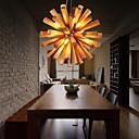 povoljno Viseća rasvjeta-10-Light Privjesak Svjetla Downlight Others Wood / Bamboo Wood / Bamboo LED 110-120V / 220-240V Meleg fehér Bulb Included / G9