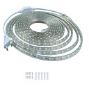 billiga Modeörhängen-kwb 5m glans dekor led-remsbelysning 220v flexibla vattentäta replampor 5050 10mm 300-rader för inomhus utomhusmiljö kommersiell belysning dekoration