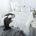 Χαμηλού Κόστους Εξώφυλλα πολυτελείας Duvet-Σετ παπλωματοθήκη Μονόχρωμο / Contemporary Πολυεστέρας Πλισέ 4 ΚομμάτιαBedding Sets