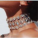 povoljno Choker ogrlice-Žene Choker oglice Luksuz Imitacija dijamanta Zlato Pink Duga 30 cm Ogrlice Jewelry 1pc Za Vjenčanje Klub