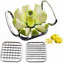billiga Frukt och grönsakstillbehör-5 i 1 köksredskap rostfritt stål grönsaksfrön cutter shredders potatisflis äppelpäron pommes frites