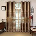billiga Genomskinliga gardiner-Moderna gardiner draperier Två paneler Gardin / Sovrum
