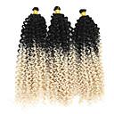 """ราคาถูก วิกผมเปีย-Braiding Hair ความหงิก Braids บิด แอฟริกา Kinky Braids Braids หยิก สังเคราะห์ 3 ชิ้น Braids ผม สีธรรมชาติ 14"""" ถักโครเชต์กับผมมนุษย์ ผม Kanekalon 100% ผม Ombre ปาร์ตี้ สวมใส่ทั่วไป Braids แอฟริกัน"""