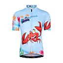 ราคาถูก เสื้อปั่นจักรยาน-Malciklo เด็กผู้ชาย เด็กผู้หญิง แขนสั้น Cycling Jersey - สำหรับเด็ก น้ำเงินท้องฟ้า การ์ตูน จักรยาน Tops ขี่จักรยานปีนเขา Road Cycling ทน UV ระบายอากาศ Moisture Wicking กีฬา Terylene เสื้อผ้าถัก / ยืด