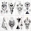 billiga tatuering klistermärken-8 pcs tillfälliga tatueringar Vattenavvisande / Bästa kvalitet Ansikte / händer / brachium Tatueringsklistermärken