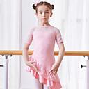 Χαμηλού Κόστους Μαγιό για κορίτσια-Παιδικά Ρούχα Χορού / Μπαλέτο Φορέματα Κοριτσίστικα Εκπαίδευση / Επίδοση Βαμβάκι Δαντέλα / Διαφορετικά Υφάσματα Κοντομάνικο Φυσικό Φόρεμα