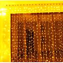 Χαμηλού Κόστους Εξτένσιον από Ανθρώπινη Τρίχα-3 * 3 m Φώτα σε Κορδόνι 300 LEDs Θερμό Λευκό / RGB / Άσπρο Δημιουργικό / Πάρτι / Διακοσμητικό 220-240 V / 110-120 V 2pcs