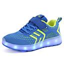 ราคาถูก รองเท้า LED-เด็กผู้ชาย Light Up รองเท้า ถัก รองเท้ากีฬา เด็กวัยหัดเดิน (9m-4ys) / เด็กน้อย (4-7ys) / Big Kids (7 ปี +) วสำหรับเดิน หัวเข็มขัด / LED ฟ้า / สีชมพู / สีดำ / สีแดง ฤดูใบไม้ผลิ / ตก / ยาง