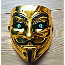 billiga Masker-Cosplay Kostymer / Dräkter Mask Inspirerad av V for Vendetta Svart Brun Cosplay Halloween Halloween Karnival Maskerad Vuxna Herr Dam