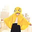 billiga Fiskeredskap Lådor-Vuxna Kappa Kigurumi-pyjamas Tecknat Emoji Onesie-pyjamas Flanelltyg Gul Cosplay För Herr och Dam Pyjamas med djur Tecknad serie Festival / högtid Kostymer