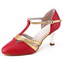 ราคาถูก รองเท้าเต้นโมเดิร์นและรองเท้าบัลเล่ต์-สำหรับผู้หญิง รองเท้าเต้นรำ หนังเทียม โมเดอร์น ส้น ส้นCuban ตัดเฉพาะได้ ขาว / แดง / Performance / ฝึก