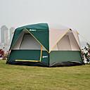 Χαμηλού Κόστους Μαγειρικά Σκεύη Κατασκήνωσης-5 άτομα Οικογενειακή Σκηνή Κατασκηνώσεων Εξωτερική Αντιανεμικό Αδιάβροχο Φοριέται Διπλής στρώσης Πόλος Camping Σκηνή 1500-2000 mm για Ψάρεμα Παραλία Κατασκήνωση / Πεζοπορία / Εξερεύνηση Σπηλαίων