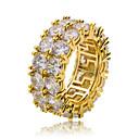 ราคาถูก สร้อยข้อมือผู้ชาย-สำหรับผู้ชาย แหวน Cubic Zirconia 1pc สีทอง สีเงิน ทองแดง รอบ Stylish ฮิปฮอป ปาร์ตี้ ทุกวัน เครื่องประดับ คลาสสิค เท่ห์