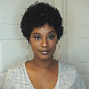 Χαμηλού Κόστους Χωρίς κάλυμμα-Ανθρώπινη Τρίχα Περούκα Κοντό Σγουρά Jerry curl Σύντομο βαρίδι Μαύρο Κλασσικό Άνετο Περούκα αφροαμερικανικό στυλ Χωρίς κάλυμμα Γυναικεία Μπεζ σκούρο κρασί Μαύρο / Για μαύρες γυναίκες