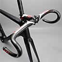お買い得  ハンドルバー、ステム-カーボンファイバー ハンドルバー ドロップバー 31.8 mm ライトウェイト 耐久 簡単装着 ロードバイク マウンテンバイク サイクリング 黒 / 赤 Glossy
