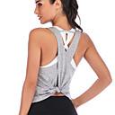 זול חזיות ספורט-לבוש אקטיבי חולצות / יוגה בגדי ריקוד נשים הדרכה / הצגה אלסטיין / פוליסטר בד בהצלבה ללא שרוולים אפוד