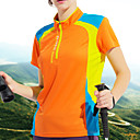 ราคาถูก เข็มกลัด-Wolfcavalry® สำหรับผู้หญิง Hiking T-shirt แขนสั้น กลางแจ้ง ระบายอากาศ แห้งเร็ว ซึ่งยืดหยุ่น เสื้อยึด Tops ฤดูร้อน เส้นใยสังเคราะห์ ครูเน็ค สีม่วง สีบานเย็น น้ำเงินท้องฟ้า