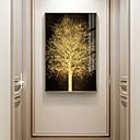 baratos Quadros com Moldura-árvore de ouro botânica imprime estilo de luxo emoldurado arte de parede