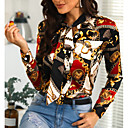 povoljno Značke i broševi-Bluza Žene Geometrijski oblici Slim Crn
