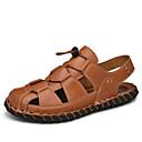 ราคาถูก รองเท้ากีฬาสำหรับผู้ชาย-สำหรับผู้ชาย รองเท้าสบาย ๆ หนัง ตก / ฤดูร้อนฤดูใบไม้ผลิ Sporty / ไม่เป็นทางการ รองเท้าแตะ ระบายอากาศ สีดำ / สีน้ำตาล / กลางแจ้ง