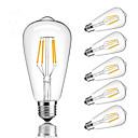 ราคาถูก หลอดโคมไฟLED-6 ชิ้น 4 W หลอดไฟLED Filament 360 lm E26 / E27 ST64 4 ลูกปัด LED COB หรี่แสงได้ ขาวนวล ขาวเย็น ขาวธรรมชาติ 220-240 V