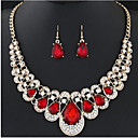 Χαμηλού Κόστους Σετ Κοσμημάτων-Γυναικεία Νυφικό κόσμημα σετ Κρεμαστό Γλυκός Κομψό Σκουλαρίκια Κοσμήματα Μαύρο / Κόκκινο / Μπλε Για Γάμου Πάρτι 1set