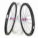 ราคาถูก ล้อจักรยาน-FARSPORTS 700CC ชุดล้อ จักรยาน 25 mm ถนน คาร์บอนไฟเบอร์ ยางงัด 20/24 Spokes 50 mm