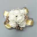 """Χαμηλού Κόστους Λουλούδια Γάμου-Λουλούδια Γάμου Κορσάζ Καρπού Εκδήλωση / Πάρτι / Γαμήλιο Πάρτι Μείγμα Πολυ / Βαμβακιού / Χάντρες 1,57 """" (περ.4εκ)"""