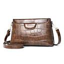 olcso Keresztpántos táskák-Női PU Vállon átvetős táska Tömör szín Fekete / Barna / Arcpír rózsaszín / Ősz & tél