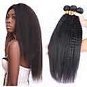 זול פיאות תחרה משיער אנושי-3 חבילות שיער ברזיאלי Yaki Straight שיער ראמי טווה שיער אדם הארכה שיער Bundle 8-28 אִינְטשׁ צבע טבעי שוזרת שיער אנושי רך קלאסי חמוד תוספות שיער אדם