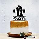 billige Kakedekorasjoner-Kakepynt Klassisk Tema / Kreativ / Bryllup Personalisert / Romantikk Akryl Bryllup / Bursdag med Solid 1 pcs OPP