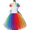 povoljno Movie & TV Theme Costumes-duga jednorog tema mali poni uzorak okrugli ovratnik Halloween princeza djevojke haljine