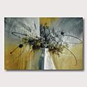 povoljno Apstraktno slikarstvo-Hang oslikana uljanim bojama Ručno oslikana - Pejzaž Apstraktni pejsaži Comtemporary Moderna Uključi Unutarnji okvir