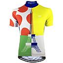 Χαμηλού Κόστους Τζάκετ Ποδηλασίας-Malciklo Ανδρικά Κοντομάνικο Φανέλα ποδηλασίας Μπλε +Κίτρινο Πουά Ποδήλατο Αθλητική μπλούζα Μπολύζες Ποδηλασία Βουνού Ποδηλασία Δρόμου Αναπνέει Γρήγορο Στέγνωμα Anti Transpirație Αθλητισμός Τερυλίνη