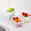 ราคาถูก ที่จัดเก็บของในครัว-คุณภาพสูง กับ Plastics กล่องข้าว ใช้เป็นประจำ ครัว การเก็บรักษา 2 pcs