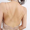 ราคาถูก ลำโพง-สำหรับผู้หญิง เครื่องประดับร่างกาย 80 cm เชนตัวถังรถ / หน้าท้องโซ่ สีทอง / สีเงิน ทองแดง เครื่องประดับเครื่องแต่งกาย สำหรับ งานแต่งงาน / ปาร์ตี้ / ของขวัญ ฤดูร้อน