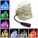 ราคาถูก สายไฟ LED-10เมตร ไฟสาย 100 ไฟ LED ขาวนวล / RGB / White Creative / Cuttable / ปาร์ตี้ 12 V 1pc