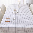 זול כיסויי שולחן-קלסי PVC ריבוע כיסויי שולחן מפות שולחן גיאומטרי עמיד במים לוח קישוטים 1 pcs