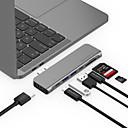 povoljno USB razdjelnici i sklopke-LENTION CB-TP-CS64THCR USB 3.0 tip C to HDMI 2.0 / Thunderbolt / USB 3.0 / USB 3.0 tip C / SD Card USB hub 9 Luke High Speed / S Card Reader (e) / Podrška za isporuku napajanja / Podrška Thunderbolt 3