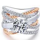 ราคาถูก แหวน-สำหรับผู้หญิง คำชี้แจง Ring แหวน Cubic Zirconia 1pc ขาว ทองแดง โลหะผสม Geometric Shape ดีไซน์เฉพาะตัว เกี่ยวกับยุโรป อินเทรนด์ ปาร์ตี้ ของขวัญ เครื่องประดับ คลาสสิค ครอสโอเวอร์ เท่ห์