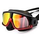 billiga Swim Goggles-Simglasögon Vattentät Anti-Dimma Utomhus Simning Silikon Gummi PC Gul Röd Svart