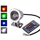 Χαμηλού Κόστους Φώτα πορείας-1pc 10 W LED Προβολείς Αδιάβροχη / Τηλεκατευθυνόμενος / Υπέρυθρος Αισθητήρας RGB 12 V / 85-265 V Εξωτερικός Φωτισμός / Αυλή / Κήπος 1 LED χάντρες / Με ροοστάτη