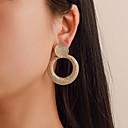 ราคาถูก ตุ้มหู-สำหรับผู้หญิง Drop Earrings ต่างหู ทางเรขาคณิต ง่าย เกี่ยวกับยุโรป แฟชั่น ที่ทันสมัย ต่างหู เครื่องประดับ สีทอง / สีเงิน สำหรับ เทศกาลคานาวาล Street ทำงาน บาร์ เทศกาล 1 คู่