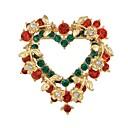 povoljno Religijski nakit-Žene Broševi fantazija Srce Stilski Luksuz Slatka Style Umjetno drago kamenje Broš Jewelry Duga Za Božić diplomiranje Dnevno