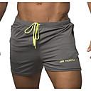 baratos Camisas, Shorts & Calças de Corrida-Homens Estilo Praia / Tropical Shorts Calças - Estampado / Letra Vermelho Cinzento XXL XXXL XXXXL