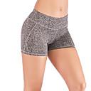 ราคาถูก เสื้อผ้ากีฬา-ชุดทำงาน ด้านล่าง / Yoga สำหรับผู้หญิง การฝึกอบรม / Performance Elastane / polyster พ็อกเก็ตที่ด้านหลัง ธรรมชาติ กางเกงขาสั้น