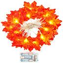 ราคาถูก สายไฟ LED-1 เซ็ต 20 leds สตริงแสงสีแดงใบเมเปิ้ล props ใบเมเปิ้ลไฟกลางคืนวันขอบคุณพระเจ้าวันหยุดตกแต่งบ้านแบตเตอรี่กล่อง