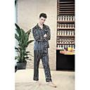 billige Undertøy og sokker til herrer-Herre Skjortekrage Dress Pyjamas - Stripet